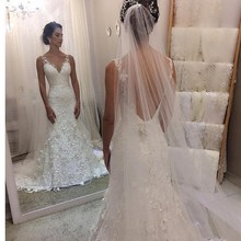 Baroque Summer Mermaid Wedding Dresses V-neck Backless