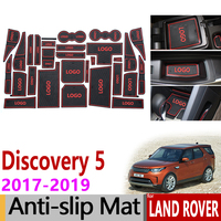 Anti Slip Gate Slot Mat Rubber Coaster for Land Rover Discovery 5 L462 LR5 2017 2018 2019 HSE TD6 SVX Accessories Car Stickers