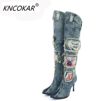 2018 High Heels Diamond Winter Is Tall Thin Woman Boots Cowboy Boots Australian Boots Botas Mujer