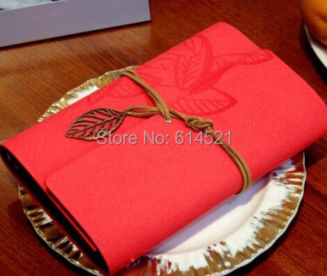 Wholesale Free Shipping 13*19cm Or 11*16cm Vintage Leaf Faux Leather Cover Travel Journal Multi Color Notebook