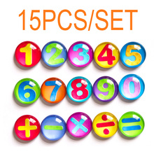 15pcs Educational Toy Crystal 37MM Fridge Magnet Refrigerator For Home Decor Kitchen Gadgets Best Birthday Gift for Kids
