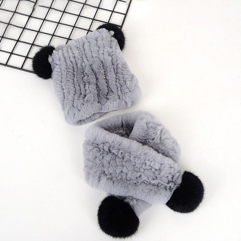 2019 Fashion New Knitted Children Hat Scarf Two Piece Set Boys And Girls Hat Ball Hair Accessories For Children Warm Set