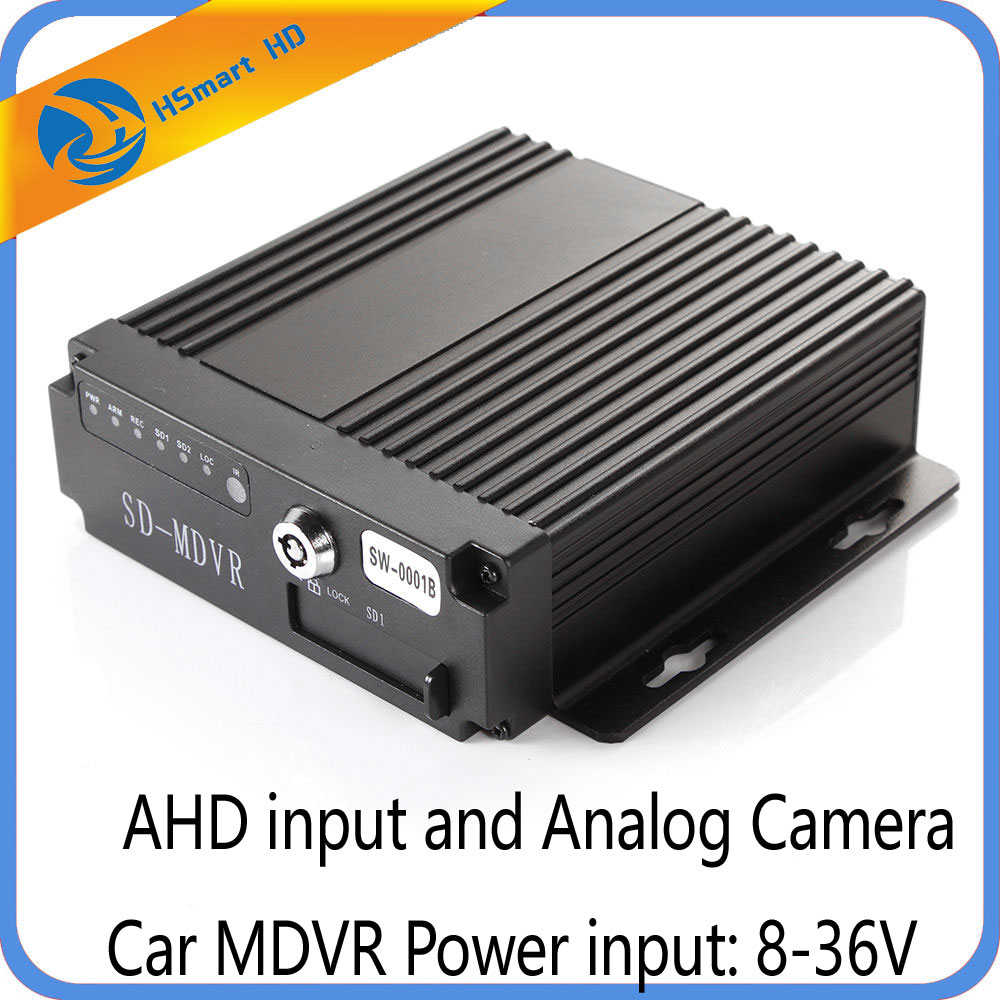 Mini SD Card 4CH Car Vehicle AHD Mobile DVR Realtime Video Audio Recorder Remote