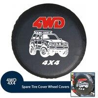 14151617 External Spare Tire Wheel Waterproof Cover Fit For RV Jeep Camper Trailer Toyota RAV4 Honda CRV, Off Road Club