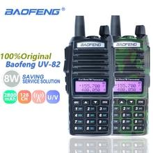 Baofeng UV-82 8 Вт двухканальные рации Dual Band PTT УКВ двухстороннее радио Baofeng UV 82 CB радио станции портативный UV82 трансивер