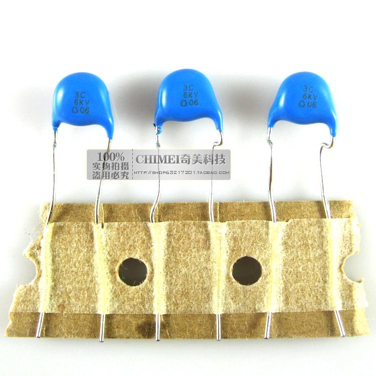 High-voltage ceramic capacitors 6KV 3P 3J 3C LCD high-voltage board backlight capacitor