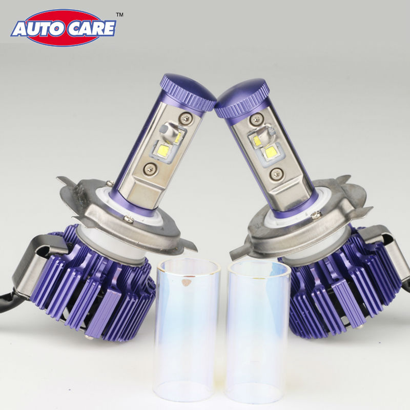 AutoCare Newest H4 LED Car Headlight High Low 40W 4000LM White 6000K Replacement Car Styling Purple