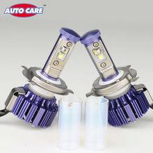 AutoCare Recentes H4 Carro LEVOU Farol Alto Baixo 40 W 4000LM Branco 6000 K Substituição Car Styling Cor Roxa Único estilo Farol