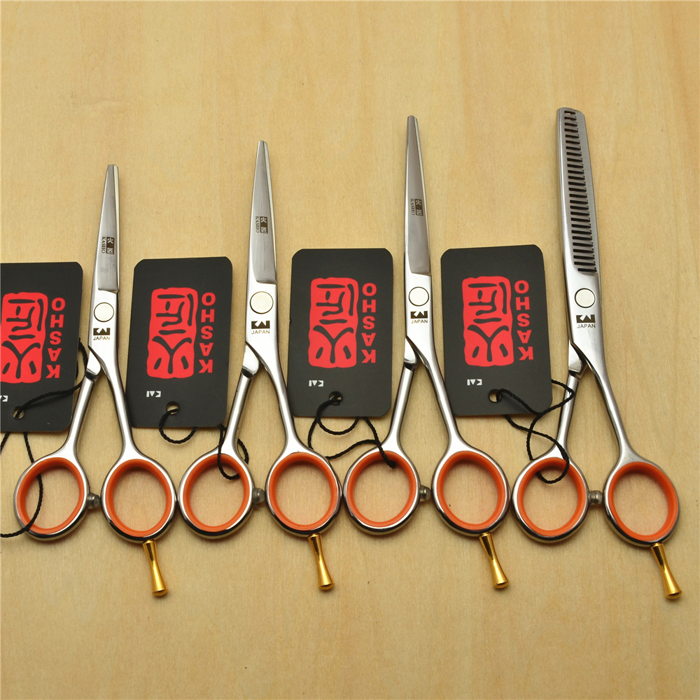 4.0 ''5.0'' 5.5 ''Japón kasho 440c profesional Cabello humano Tijeras peluquería Tijeras Cúter adelgazamiento Tijeras h1017