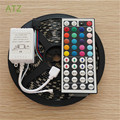 Black PCB Board 5050 LED RGB Strip 5M IP65 Led Tape Waterproof 300 LEDs/Roll +44 keys IR Remote