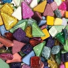120g 70 шт красочные Яркая блестящая ремесло Материал Стекло мозаика Плитки оптом для мозаики, делая «сделай сам» для дома крафт