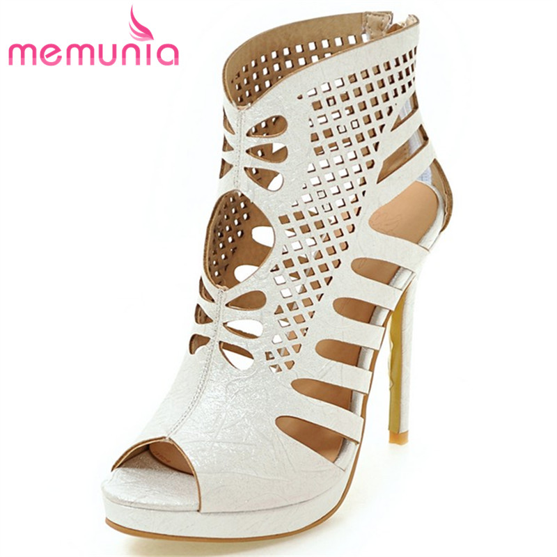 MEMUNIA 2017 hot sale new arrive High help hollow out summer shoes fashion women high heels sandals ladies prom shoes