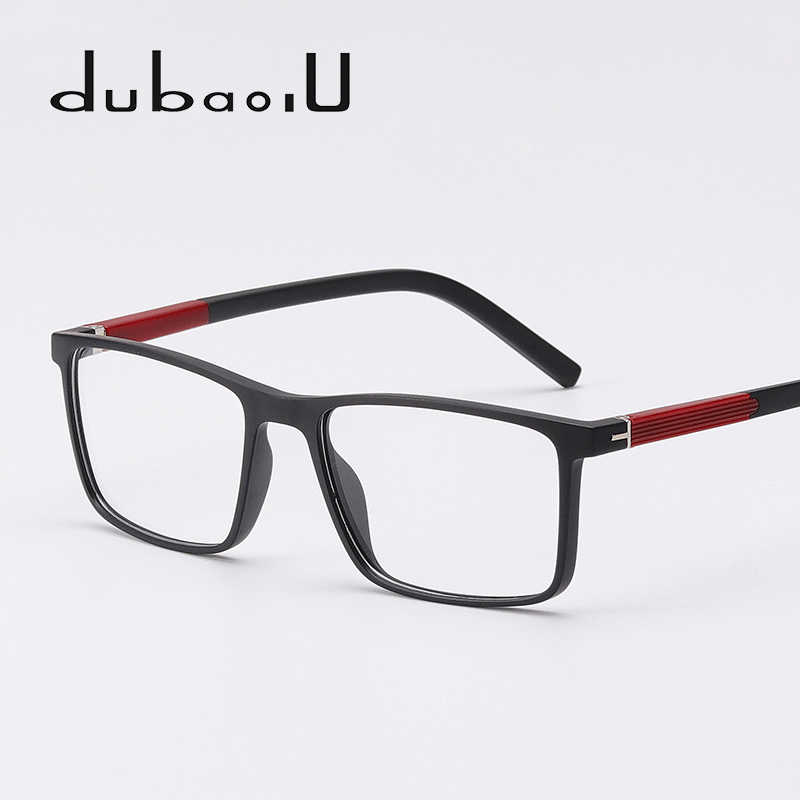 a75177795d5 TR90 Eye Glasses Frame Men Brand Fashion Square Myopia Optical Computer  Clear Reading Spectacles Frames Ultra
