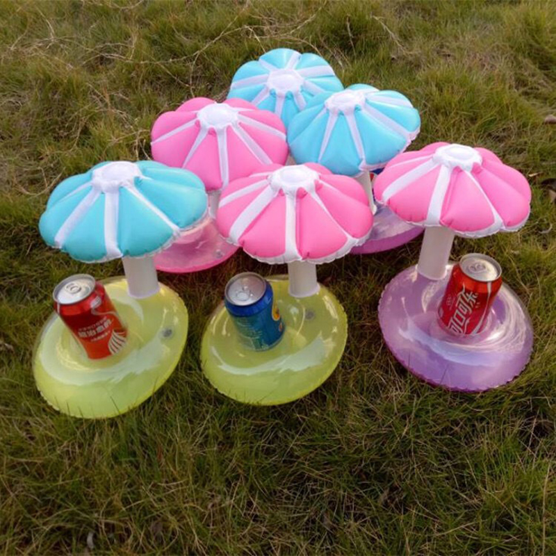 Mushroom Inflatable Pool Party drink floats umbrella inflatable cup coaster Pool Float cup holder drink floats swimming Toys