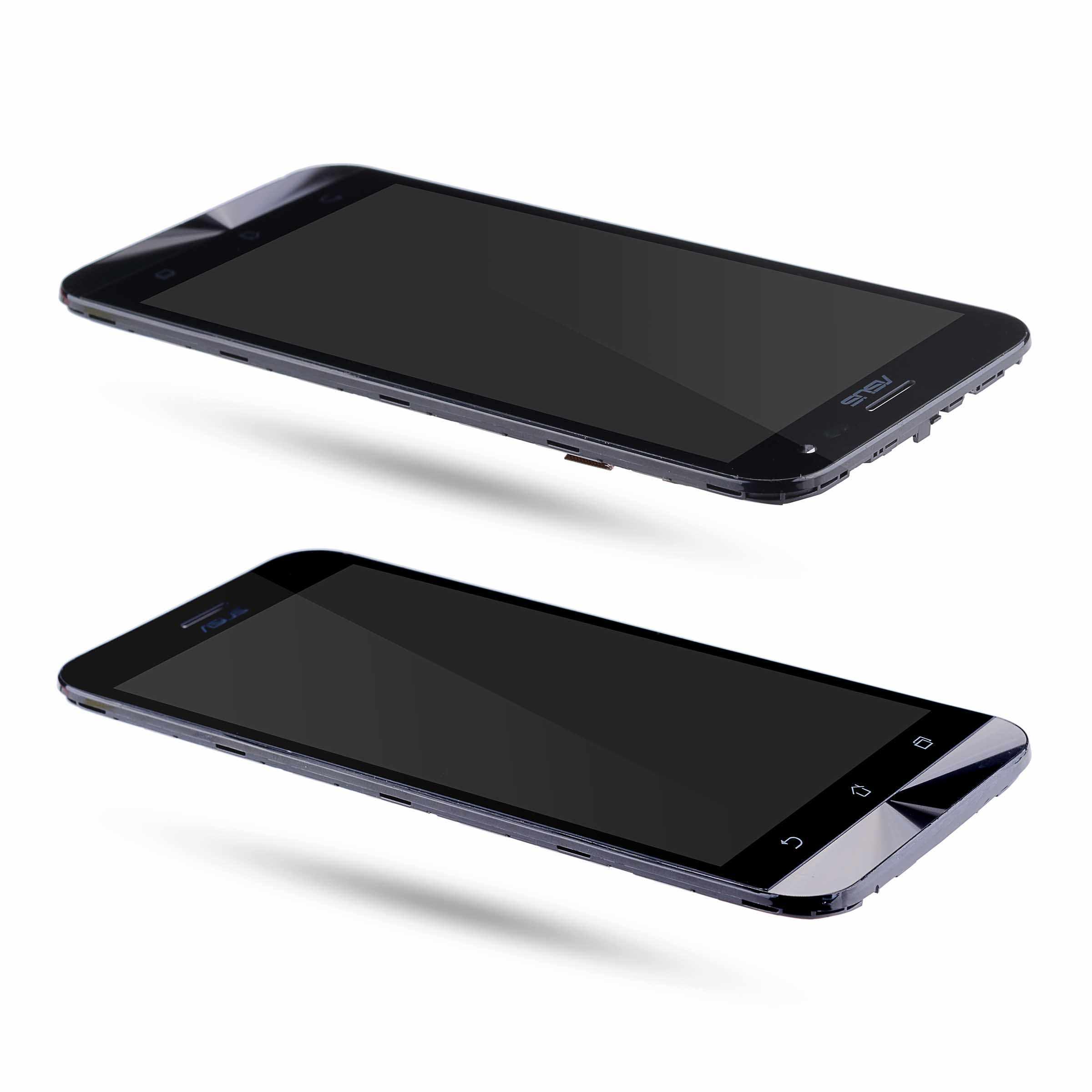 Дисплей для ASUS Zenfone 2 Laser ZE500KL LCD ZE500KG в сборе с тачскрином на рамке Оригинал черный