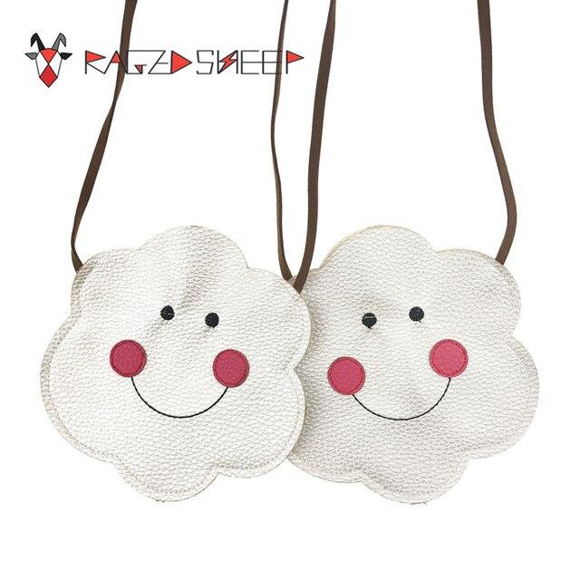 Raged Sheep Lovely Children One Shoulder PU Bag Kids Coin Purse Cute Cloud Girls Messenger Bag Baby Coin Bags