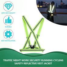 Воздухопроницаемый светоотражающий жилет для безопасности дорожного движения и работы в ночное время, для бега и велоспорта, светоотражающая Защитная куртка с высокой видимостью