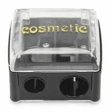 1 Unid las Mini Mujeres Portátiles De Plástico Negro 2 Agujeros Sacapuntas para Maquillaje Delineador de ojos Delineador de Labios Cejas Belleza Maquillaje herramienta