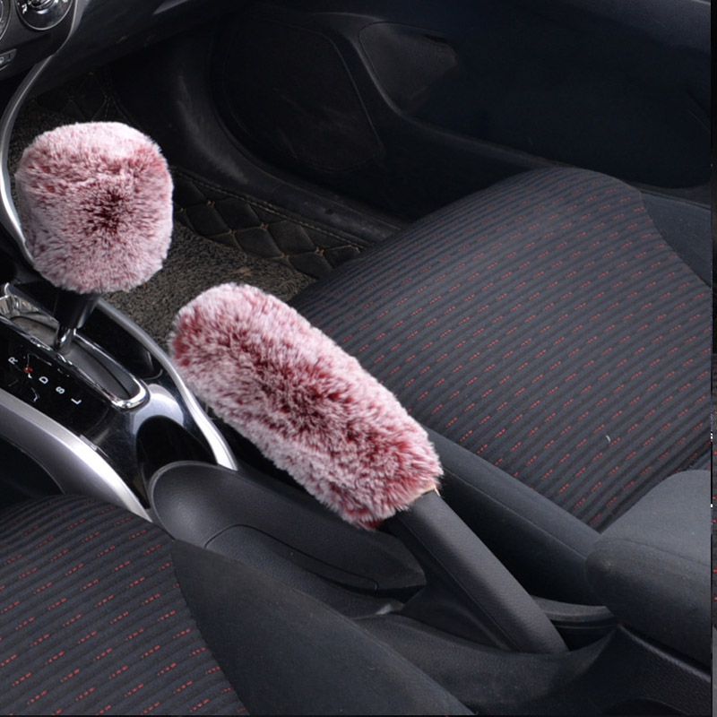 Car Warm Handbrake Grips Gear Shift Collars Covers For Honda Civic 2006-2011 Accord Fit City CRV Volvo S60 XC90 V40 V70 V50 V60