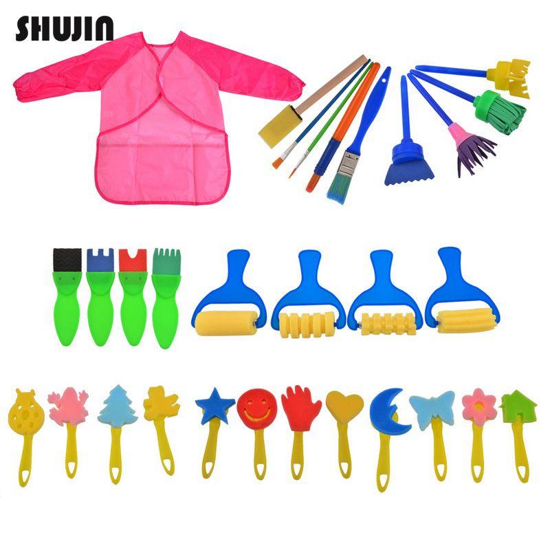 Learning & Education The Cheapest Price Shujin 30pcs/set Rotate Spin Paint Drawing Sponge Brushes Kids Diy Flower Sponge Art Graffiti Brushes Painting Tool Toys Removing Obstruction