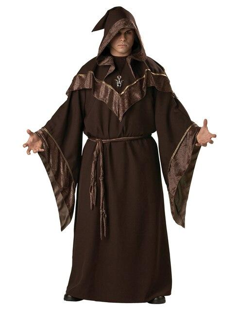 MOONIGHT Halloween Costumes Adult Mens Gothic Wizard Costume European Religious Men Priest Uniform Fancy Cosplay Costume for Men 1