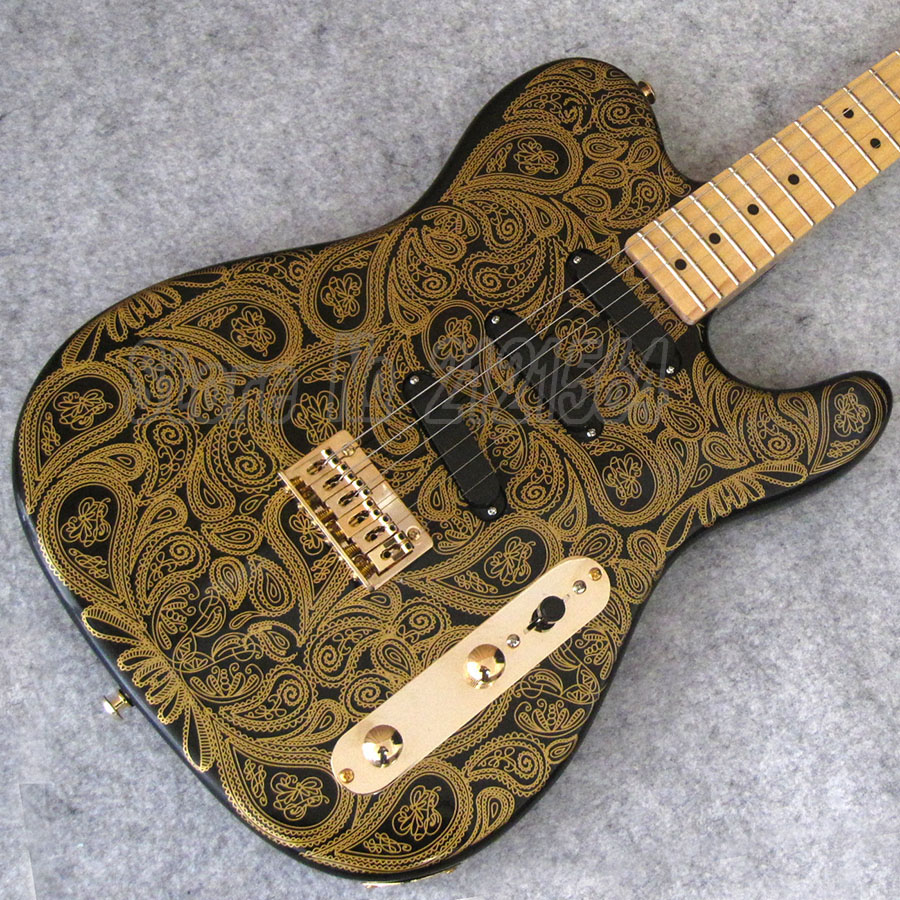 TL Electric Guitars  Maple Fingerboard  Gold Paisley Flames chinese  guitar custom shop free shipping