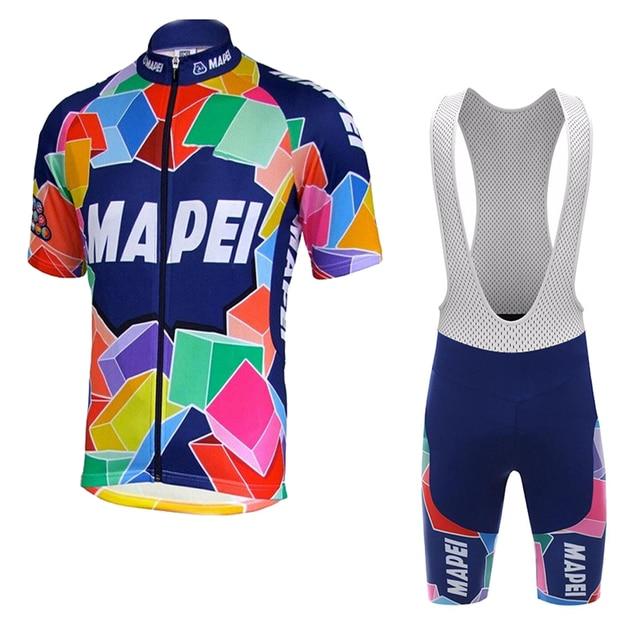 new pro team cycling jersey set men Short sleeves classic gel pad bib shorts  vintage cycling clothing maillot outdoor MTB 798c3542a