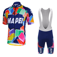 new pro team cycling jersey set men Short sleeves classic gel pad bib shorts vintage cycling clothing maillot outdoor MTB