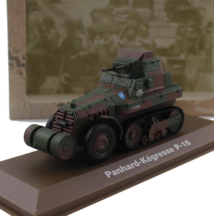 ATLAS 1/43 Panhard-Kegresse P-16 Armor Halftrack Alloy collection model Holiday gift atlas 1 43 germany horch kfz 15 military command reconnaissance vehicle model alloy collection model holiday gift