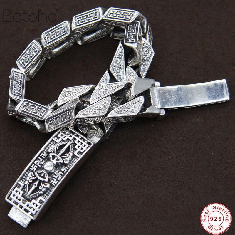 Bandes de métier à tisser 100% réel 925 femmes homme en argent Sterling Simple hommes amitié bracelet à breloques bracelet fait à la main bijoux en argent de thaïlande