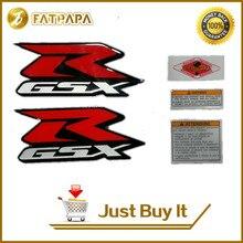 El envío Libre de La Motocicleta 3D Pegatinas GSXR logo Del Tanque De Combustible Ajuste Para Suzuki Gsxr 600 Gsxr750 Gsxr1000 Gsr750 GSX650F BANDIT GSF1250 común