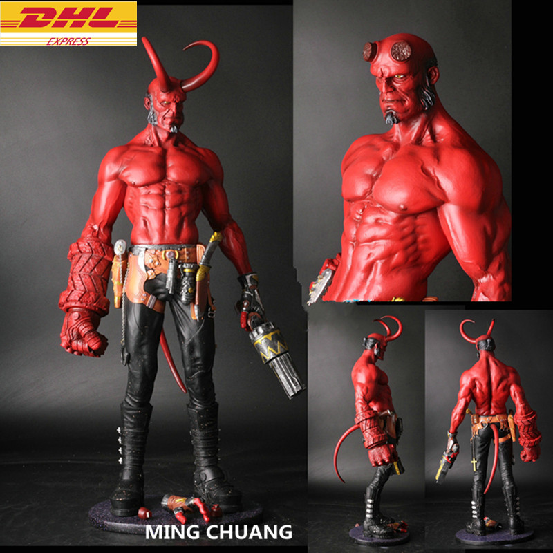 где купить Statue Hellboy Bust Satan Son Full-Length Portrait GK Action Figure Collectible Model Toy D296 дешево