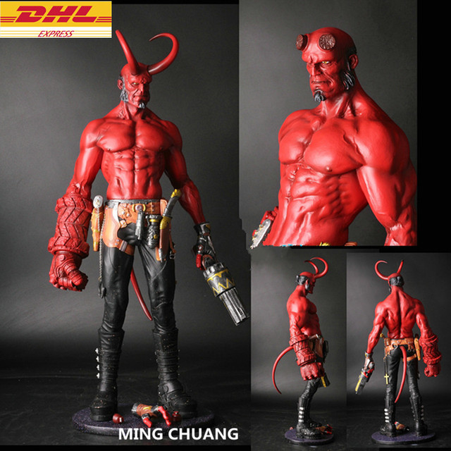 Statue Hellboy Bust Satan Son Full Length Portrait Gk Action Figure