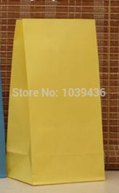 NEW Yellow Kraft Paper Bags 23x12x7.5cm Boutique Jewelry Gifts Shopping Packaging Bags Fashionable Paper Gift Bag 100pcs/lot
