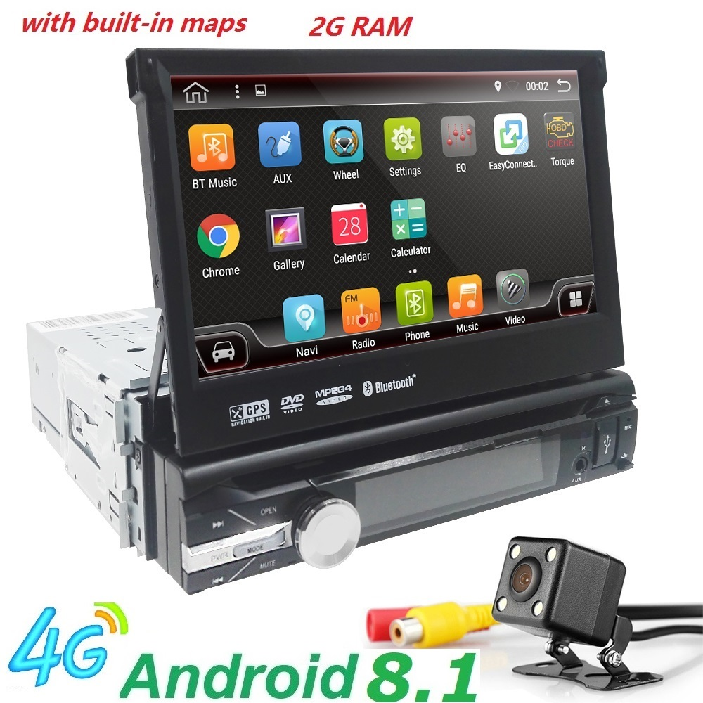 android 8 1 hd 1024 600 car dvd player radio for universal. Black Bedroom Furniture Sets. Home Design Ideas