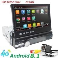 Android 8.1 HD 1024*600 Car DVD Player Radio For Universal Car Radio Monitor 4G WIFI GPS Navigation Head Unit 1din 2G RAM RDS BT