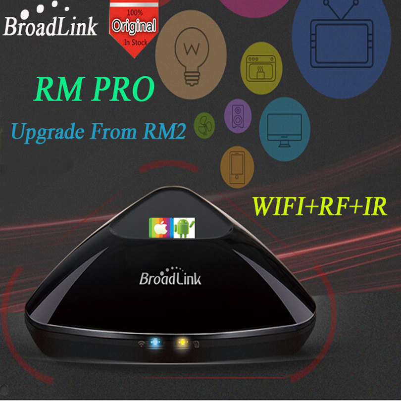 Newest RM2 Broadlink Pro Smart Home Controller Smart switch Devices for House Automation Wireless WIFI IR+RF Remote Control free shipping 2017 broadlink rm pro rm03 smart home automation wifi ir rf universal intelligent remote control switch for