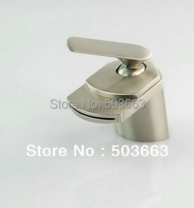 Nickel Brushed Single Handle Waterfall Bathroom Basin Big Spray Mixer Tap Basin Faucet Vanity Faucet Y-9197 Mixer Tap Faucet