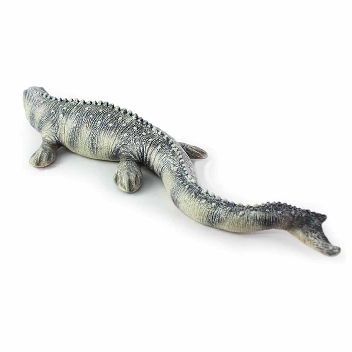 """17.72 """"Simulação Mosasaurus Dinossauro Modelo de Brinquedo Figura de Ação de Plástico Pintado À Mão Modelo Animal Dinossauro Brinquedos Para Presente Das Crianças"""