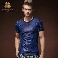 FANZHUAN Öne Markalar Giyim Kısa kollu Erkekler Ultra Ince T-shirt Moda s Erkekler T Shirt Slim Fit T Shirt Erkek Yaz Erkekler