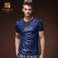 FANZHUAN Featured Brands Clothing Short Sleeves Men Ultra Thin T Shirts Fashion S Men T Shirts