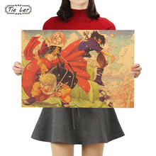 TIE LER Japanese Cartoon Comic Naruto F Style Vintage Kraft Paper Poster Bar Decorative Painting Wall Sticker 50.5X35cm