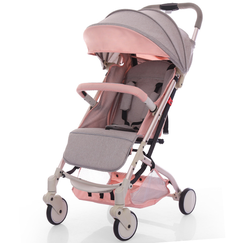 Baby Stroller Ultra Light Portable Can Sit Lie Folding Umbrella Baby Stroller Can Take on The Plane Child Trolley
