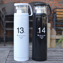 Hot Sale Thermos Cup 350/ 500ml Termo Bottle Stainless Steel 12 hours Insulation Thermal Water Vacuum Flask Coffee Mug Drinkware