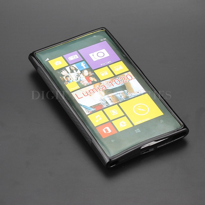 8 Color S-Line Anti Skidding Gel TPU Slim Soft Case Back Cover For Nokia 1020 Lumia 1020 Mobile Phone Rubber silicone Cases