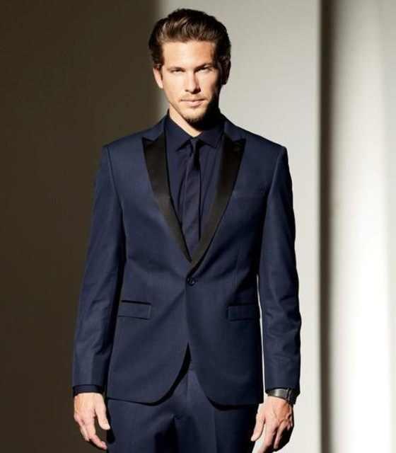 2019 модный тонкий новый армейский Королевский синий мужской свадебный костюм вечерние смокинги для танцев мужские повседневные Комбинезоны костюм (пальто + брюки)