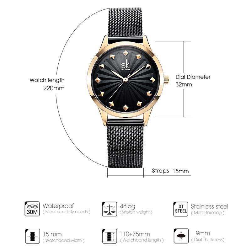 Shengke 2018 Ποιότητα πολυτελείας ρολόι - Γυναικεία ρολόγια - Φωτογραφία 2