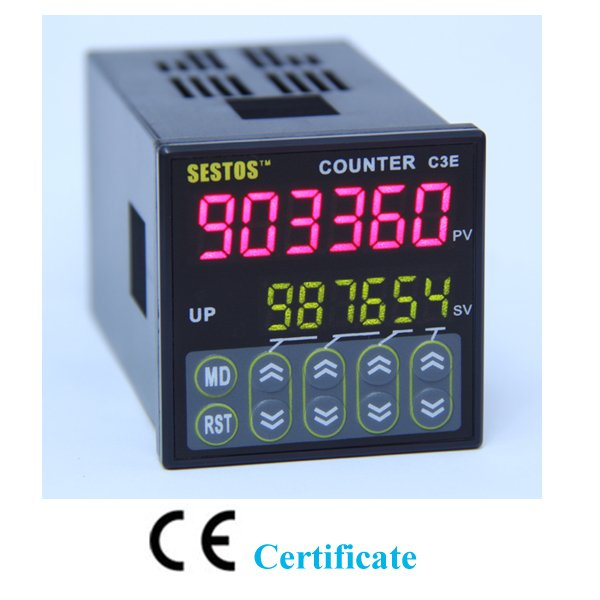Free Shipping 6 digits Counter Relay Preset 0.001-99.999 110-240V CE