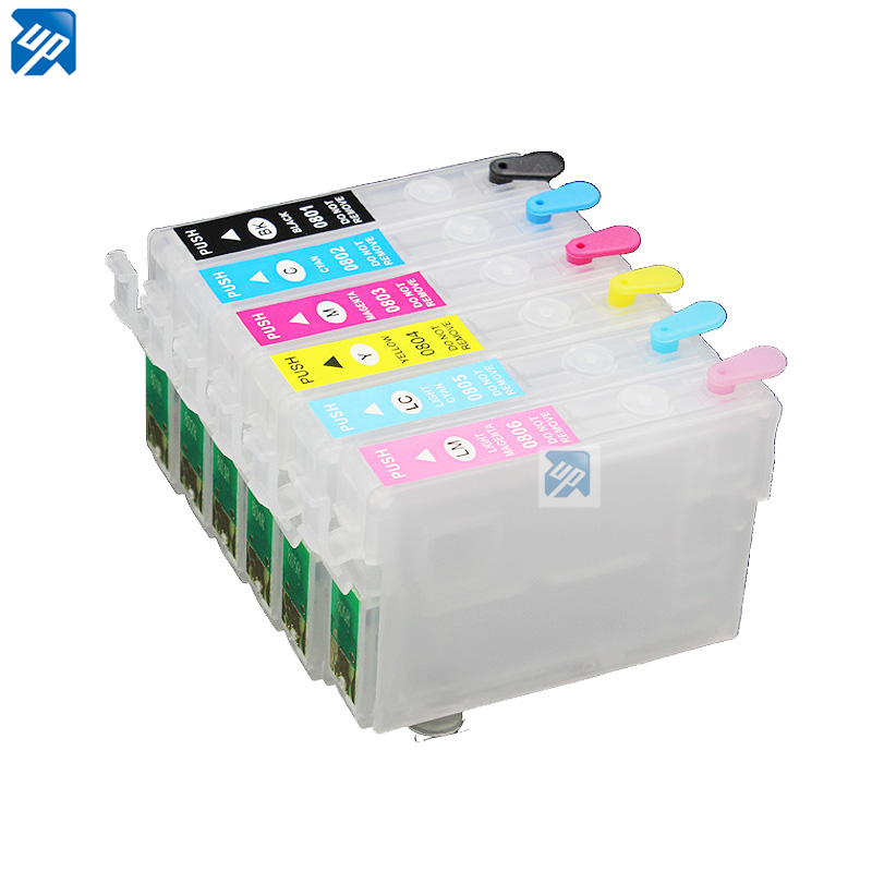 T0801 10sets Refillable ink Cartridge for epson P50 PX650 PX700 PX800 PX710 PX720 PX810 PX820 R265