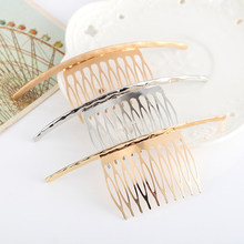 1Pcs Female Women Alloy Hair Clips Golden Silver Hair Comb Pin Hairpin Barrettes For Wedding Bride Accessories Hairstyling Tool